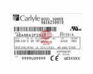 06E6250 CARRIER CARLYLE SEMI COMPRESSOR