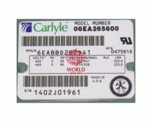 06EA265 CARRIER CARLYLE SEMI COMPRESSOR