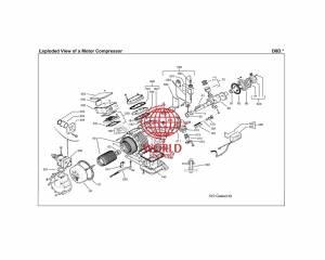 D8D copeland compressor parts drawing
