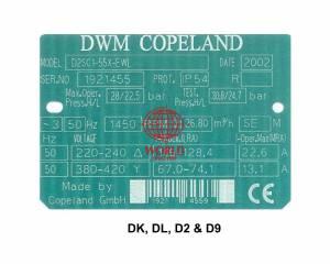 DWM COPELAND DK, DL, D2, D9 SEMI COMPRESSOR